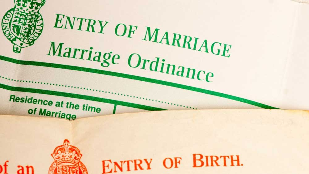 Guide to Birth Death Marriage UK